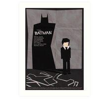 Batman 1989 - Saul Bass Inspired Poster Art Print
