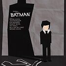 Batman 1989 - Saul Bass Inspired Poster by Alex Clark