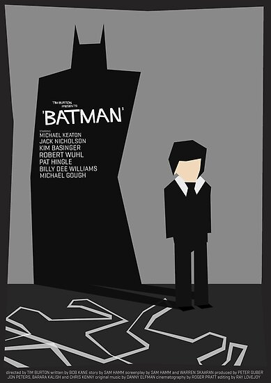 Batman 1989 - Saul Bass Inspired Poster (Untextured) by Alex Clark