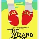 Wizard Of Oz - Saul Bass Inspired Poster (Untextured) by Alex Clark