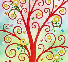 Dream Tree - Brush And Gouache by RainbowArt