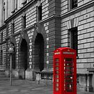London Red Telephone box  by DavidFrench