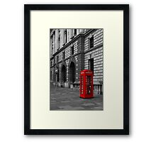London Red Telephone box  Framed Print
