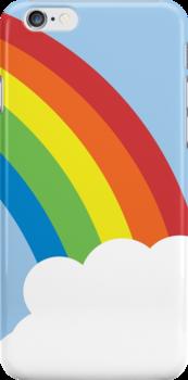 80's Retro Rainbow iPhone Case by teeboutique