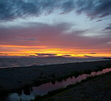 The Purple Stream at Allonby 2 by Jan Fialkowski