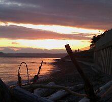 Alki Beach Sun Set by kylemeling
