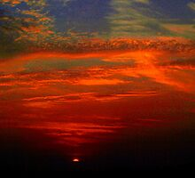 Dramatic red sunset by ♥⊱ B. Randi Bailey