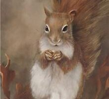 Squirrel  iPhone Case by purplesensation