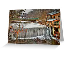 Icy Conditions Greeting Card