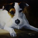 Parson Jack Russell Terrier by Anne Zoutsos