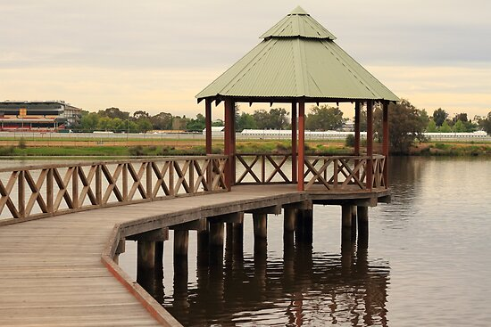 Jetty on the Swan River by Elaine Teague