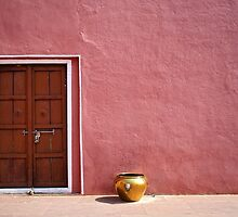 Pink Wall,Door & The Golden Pot ! by saptak ganguly
