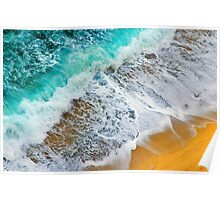 Waves abstract Poster