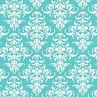 TIFFANY BLUE - DAMASK 3 by MadNic