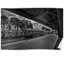 Moring dream at the train station Poster