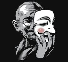 DISOBEY - Gandhi Putting on Guy Fawkes Mask by jimiyo