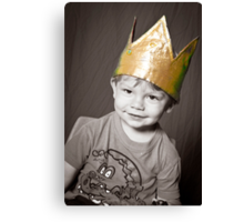 Oliver 2011 with Christmas Crown Canvas Print