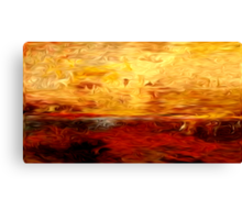 Abstract Colors Oil Painting #10 Canvas Print