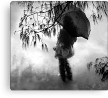 woman in the rain II Canvas Print