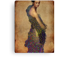 Peacock dress Canvas Print