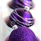 Christmas Purple Bauble Cupcakes by Joy Watson
