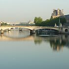Morning light on the Seine, Paris by Barbara Gray