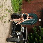 Pin Up Babe with Model A iPhone by trussphoto