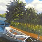 Boat on Norford Broads by PamelaMeredith