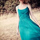 green dress by Catherine  Regan
