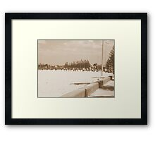 Beach Footy Tradition Framed Print