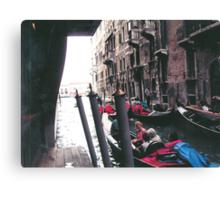 PARKING GONDOLAS EL BAUER- VENICE -ITALY- EUROPA- 2000 VISUALIZz. 2013  -  VETRINA RB EXPLORE 27 NOVEMBRE 2011 -       - Canvas Print