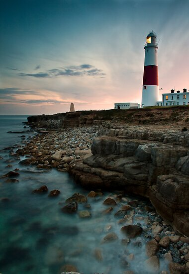 Portland Lighthouse Sunset.  by Daniel  Bristow