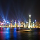 Hong Kong at night by javarman