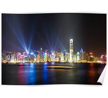 Hong Kong at night Poster