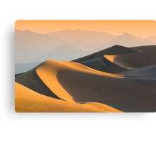 Sand dunes over sunrise sky in Death valley, California Canvas Print