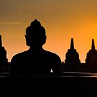Borobudur temple at sunrise, Java, Indonesia by javarman