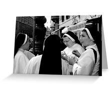 Nun's eating Ice cream Greeting Card