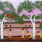 """Rain Dance At Pink Lake; Australia; SOLD by EJCairns"