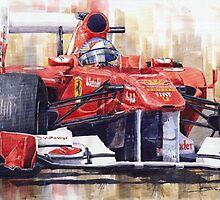 Ferrari  F1   1956 - 2012 www.shevchukart.com by Yuriy Shevchuk