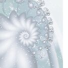 Snow Flowers ..Fractal Iphone Cover by Elaine  Manley