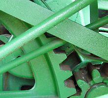 Green Gears by WildestArt