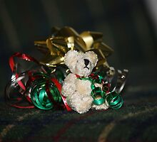 Christmas Teddy by cathywillett
