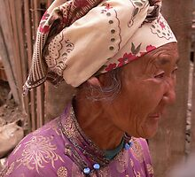 An elderly lady in the back streets of Ulaanbaatar, Mongolia by bethischeery