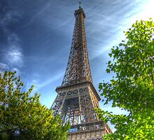 Eiffel Tower in summer by RDaviesImages