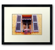 French Window Framed Print