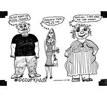 Occupy Fashion culture cartoon Photographic Print
