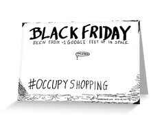Occupy Shopping cartoon Greeting Card