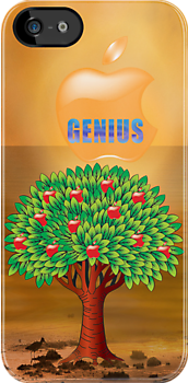 Apple Genius iphone case -  by imagetj