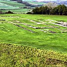 All that remains.....Old Sarum Cathedral, a Norman Cathedral built at Old Sarum, near Salisbury UK by Clive