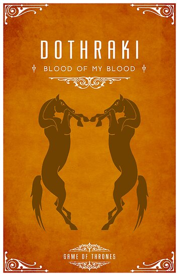 Dothraki Poster by liquidsouldes